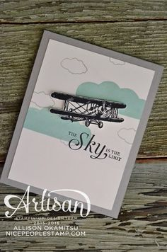 nice people STAMP!: Sky Is The Limit Card