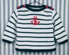 Marinière : Modal, Coton › Pull › Layette / Enfants › Laines Bouton d'Or
