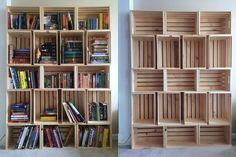 Αποτέλεσμα εικόνας για diy bookcase