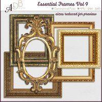 Essential Frames Vol 9 Commercial Use photo frames for Digital Scrapbooking, #CUDigitals