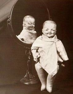 Gettin' our Creepy, Freaky on Vintage Style today! Freaky two faced doll. Never too creepy for Roller Skates!
