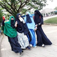 Niqab Fashion, Modest Fashion, Tights Outfit, Hijab Outfit, Besties, Bff, Hijab Drawing, Cute Muslim Couples, Queen Love
