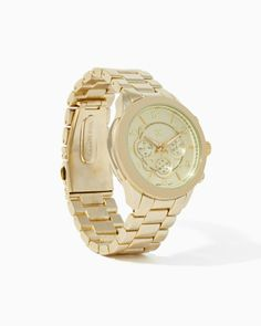 :: simple gold watch ::