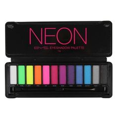 Neon Eyeshadow, Eyeshadow Palette, Makeup Pallets, Bys, Beauty Queens, Color Combos, Makeup Products, Beauty Products, Beauty Makeup