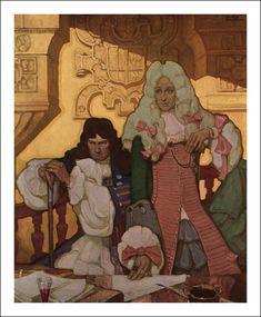 "Thomas Ragon on Twitter: ""Mead Schaeffer (1898-1980), ""Lorna Doone"", 1930… "" American Illustration, Illustration Artists, Frederic Remington, Mead, Ancient Art, Art History, Art Inspo, Painting & Drawing, Art Reference"