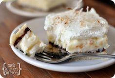 melskitchencafe.com: Chocolate and Coconut Cream Pie Bars