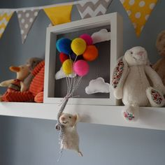 """Say """"Hello"""" to Balloon Mouse, he simply loves floating in the sky. I have loving handmade Balloon mouse and his balloons using a needle felting technique. Needle Felted Mice, Needle Felt Mice, Felt mice, Felted Mice, Needle Felted Mouse, Needle Felt Mouse, Felt Mouse,"""