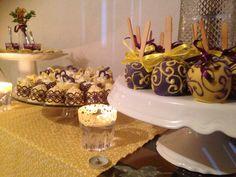 Decoração em roxo e amarelo: Mini-Wedding