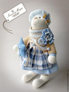 How to sew a bunny. Part 1. Carcass bunnies. Pattern, cutting, packing. - Fair Masters - handmade, handmade