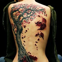 3d-tattoo-tree-with-red-leaves