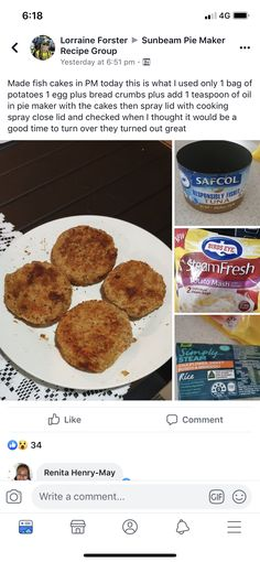 Sunbeam Pie Maker, 1 Egg, Bread Crumbs, Lorraine, French Toast, Potatoes, Fish, Cooking, Breakfast