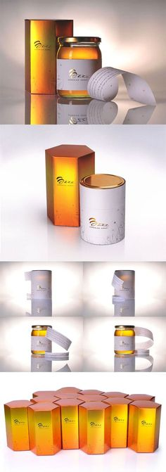 Buzz Packaging of the World PD Organic Packaging, Honey Packaging, Cool Packaging, Packaging Design, Honey Bottles, Honey Logo, Honey Label, Honey Brand, Honey Shop