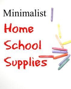 Minimalist home school supplies: equip your homeschool without clutter