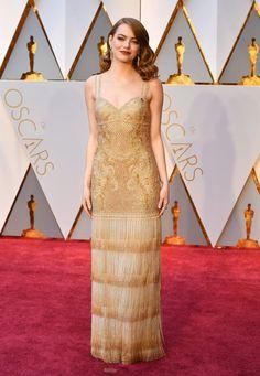 Emma Stone Oscar 2017 Red Carpet Arrival: Oscars Red Carpet Arrivals 2017 - Oscars 2017 Photos | 89th Academy Awards