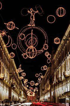 Luci d'artista  Via Roma  Turin  Italy