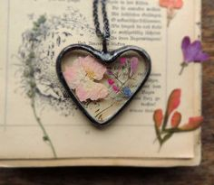 heart necklace love wedding necklace Dandelion by MARIAELA on Etsy