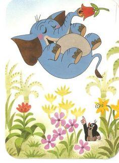 (2014-08) Muldvarpen peger på en sovende, svævende elefant