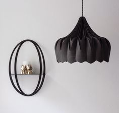 Black Peony lamp & black Halo shelf / be&liv Black Peony, Black Lamps, Beautiful Lights, Ceiling Lamp, Making Out, Peonies, Craftsman, Home Accessories, Halo
