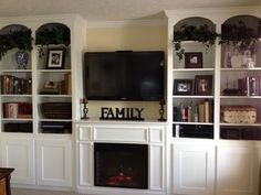 Fireplace with Custom Built-In Unit