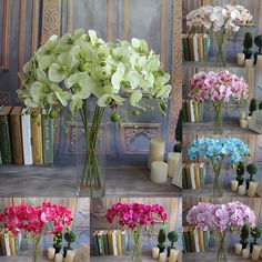 Decor Butterfly Orchid Silk Flowers Plant Garden Simulation Artificial