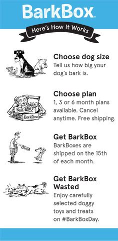 For a limited time, Pinners get a free extra month of BarkBox on 6 and 12-month plans! We deliver a monthly themed box of curated all-natural doggy treats and fun toys right to your door. It's a pawsome experience for you to share with your pup. Plans can be customized for big or small dogs, heavy chewers, and pups with allergies. Most of all, it just makes dogs happy. Offer expires 5/31/2016.