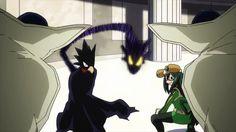 Fumikage Tokoyami, Tsuyu Asui and Dark Shadow vs Ectoplasm  || Boku no Hero Academia
