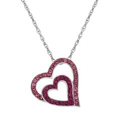 Artistique Sterling Silver Crystal Tilted Heart Pendant - Made with Swarovski Elements from Kohl's on shop.CatalogSpree.com, your personal digital mall.
