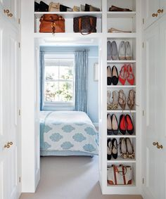 16 small bedroom storage ideas: clever small bedroom storage | Homes & Gardens Very Small Bedroom, Small Room Design Bedroom, Small Guest Rooms, Small Bedroom Storage, Small Bedroom Furniture, Spare Room Storage Ideas, Box Room Bedroom Ideas, Master Bedroom, Bedroom Layouts