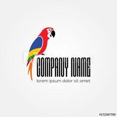Stock Image: Parrot logo design. Vector illustration Parrot Logo, Temporary Work, Lorem Ipsum, Logo Design, Illustration, Image, Products, Illustrations, Gadget