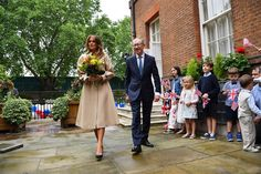 Trump Baby Blimp, Meeting with the Prime Minister & More Moments from President Trump's State Visit — Day 2 Camilla Duchess Of Cornwall, Duchess Of Cambridge, Trump Baby, Trump Picture, White Evening Gowns, First Lady Melania Trump, Navy Skirt, Prince William And Kate, Designer Gowns
