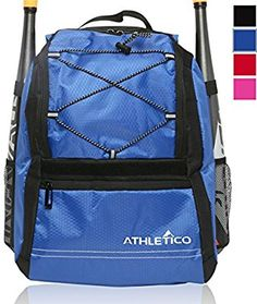 c37023ffe743 Amazon.com   Athletico Youth Baseball Bat Bag - Backpack for Baseball