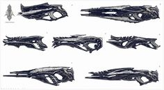 Kryptonian weapon designs by Ben Mauro