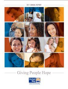 2011 Annual Report - Lubbock Area United Way #liveunited #hope