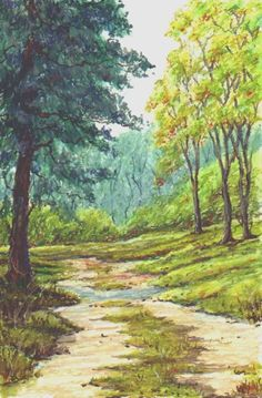 oil pastel art | walk oil pastel on card available picture size 7 x 11 this painting ...
