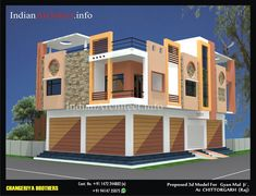 House Porch Design, House Front Wall Design, House Outer Design, House Main Gates Design, 3 Storey House Design, Bungalow House Design, House With Porch, Modern House Design, Building Design Plan