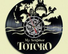 Totoro Vinyl LP Record Wall Clock Gift Idea