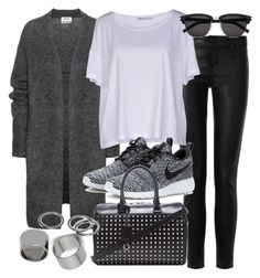 """""""Untitled #18825"""" by florencia95 ❤ liked on Polyvore featuring J Brand, Acne Studios, T By Alexander Wang, Yves Saint Laurent, NIKE and Pieces"""