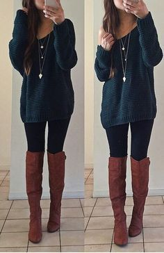 winter outfits for church casual church outfits - Casual Outfit Cute Thanksgiving Outfits, Cute Fall Outfits, Fall Winter Outfits, Autumn Winter Fashion, Spring Outfits, Casual Outfits, Long Sweater Outfits, Fall Outfits 2018, Winter Clothes