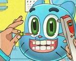 Em Gumball Eye Doctor, Gumball machucou os olhos enquanto brincava com Darwin e agora precisa ir ao medico. Ajude Gumball a fazer os exames e cuidar de seus olhos para que ele volte enxergar direito. Divirta-se com Gumball!