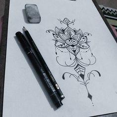 Rascunho!. Flor de  lotus com pontilhismo. Disponível para  tatuar.  #tattoocaldara #tattoo #inspirationtattoo ...