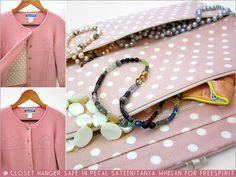 FreeSpirit-Rowan 10&10 Series: Closet Hanger Safe in Tanya Whelan/Petal Sateen