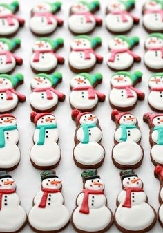 Chocolate Gingerbread Cut Out Cookie Recipe and Decorated Cookies Snowman Cookies, Christmas Sugar Cookies, Christmas Desserts, Christmas Treats, Christmas Baking, Gingerbread Cookies, Gingerbread Decorations, Christmas Ornament, Xmas