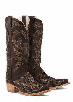Good Lane Boots Love Sick Chocolate Leather Fashion Cowgirl Boots - Chocolate