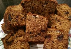 Date and Walnut Cake 110g chopped dates, 55g marg, 225ml boiling water, 1 tsp bicarb, 225g self raising flour, 55g chopped walnuts, 85g brown sugar, 85g caster sugar, 1 large egg. Put dates and marg in basin with boiling water and bicarb. Mix to melt marg and leave to cool. Combine flour, walnuts, and sugar, then add to cooled date mixture with egg. Add to lined loaf tin. Cook 60 mins at 160 fan.