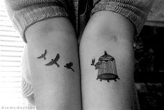 tatouage oiseau cage