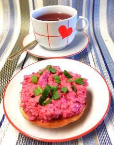 Céklás tojáskrém pirítósra🥪 Crackers, Spreads, Dips, Pretzels, Dip, Sandwich Spread, Cookie, Sauces