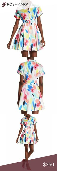 Kate spade watercolor dress Sold out everywhere.  Brand new with tags. Hard to find. kate spade Dresses Midi