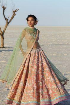 15 Anita Dongre Lehenga Designs With Prices - SetMyWed Party Wear Lehenga, Bridal Lehenga Choli, Wedding Lehnga, Lehenga Designs, Indian Wedding Outfits, Indian Outfits, Indian Clothes, Mehendi Outfits, Indian Attire