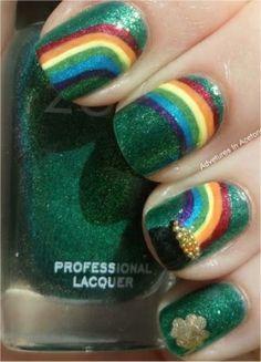 Cute St Pat's nails