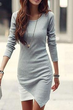 Like the casualness and fit of this dress-maybe a different color? Light gray washes me out.